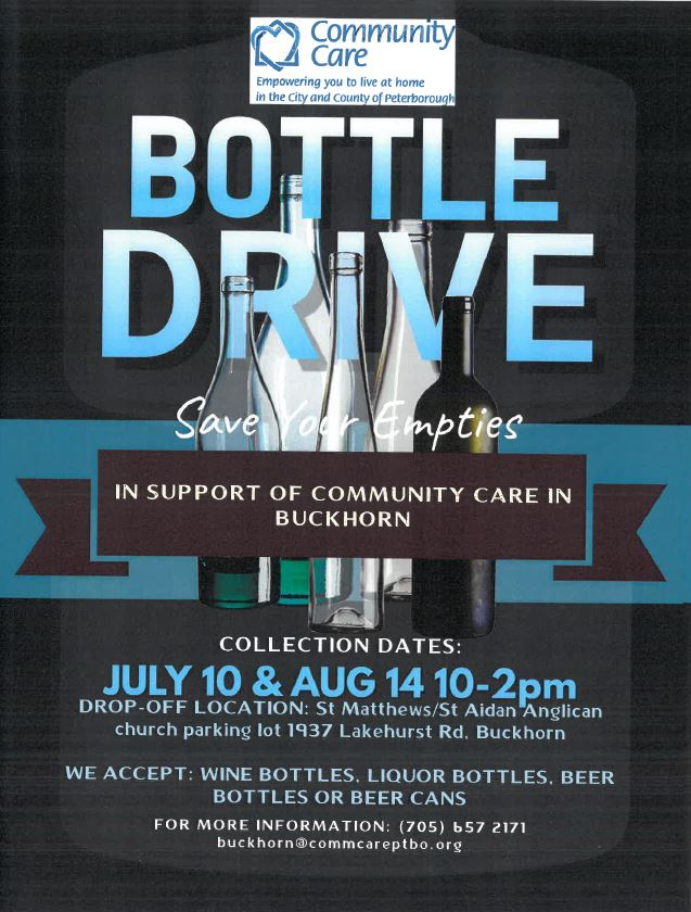 Bottle Drive - Proceeds to our Buckhorn Office