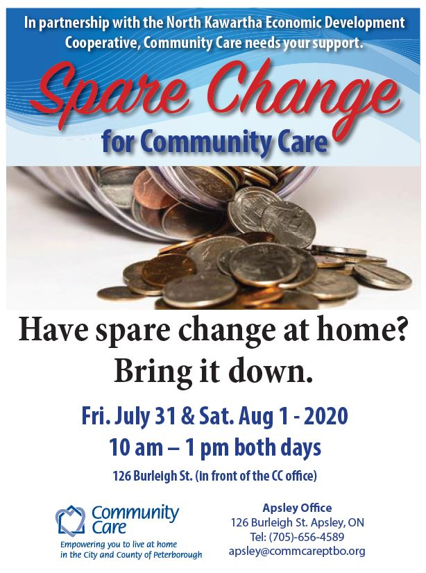 Event Poster - Spare Change for CC in Apsley